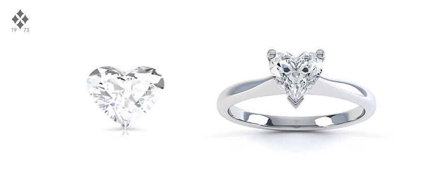 Heart shape diamond cut