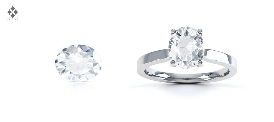 oval diamond shape