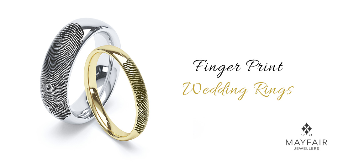 Finger Print Wedding Rings
