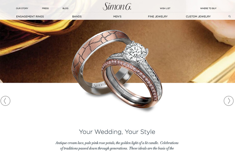 Simon g jewellery_website