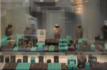 Shining diamonds front window display
