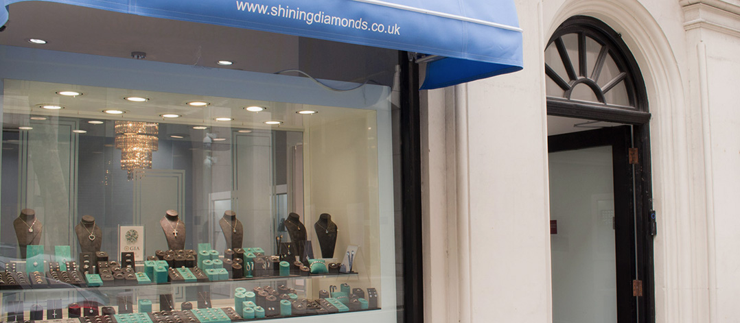 shop front of shining diamonds