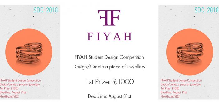 FIYAH Student Jewellery Design Competition 2018
