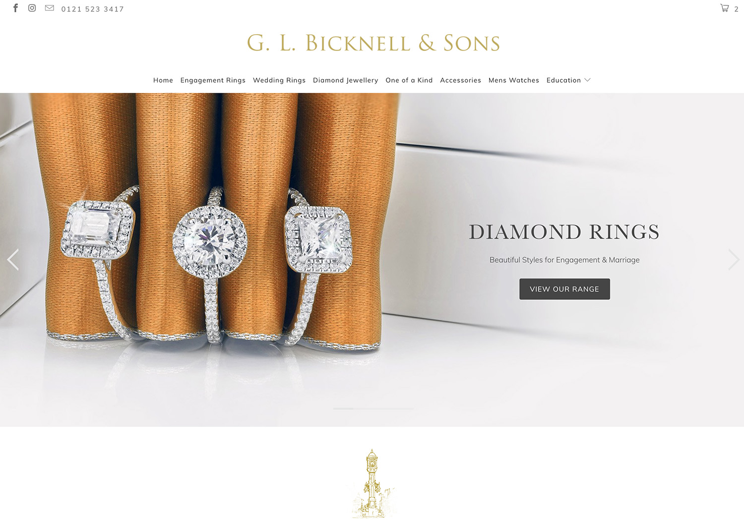 Bicknells Jewellery Website