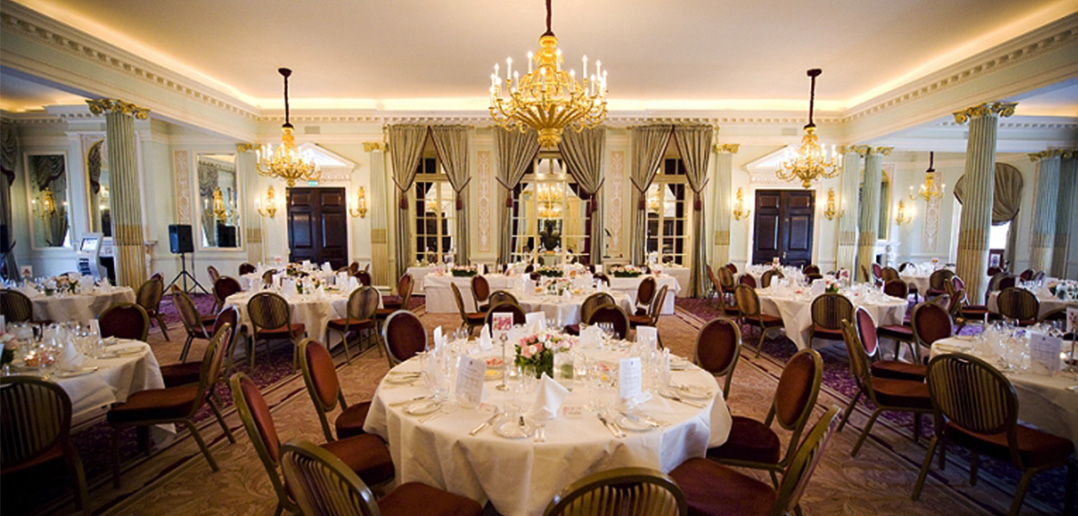 RAC Pall Mall Dining room - to host the silversmith and jewellery charity dinner